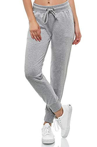 Smith & Solo Women's Jogging Bottoms – Sports Trousers Women Cotton | Sweatpants Slim Fit Casual Trousers Long | Training Trousers Fitness High Waist – Jogger Running Trousers Modern – Grey – Small